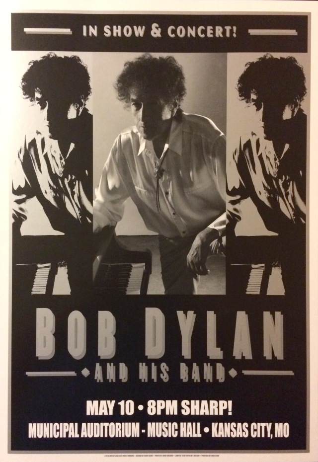Bob Dylan poster for the 5/10/15 show in Kansas City, MIssouri.