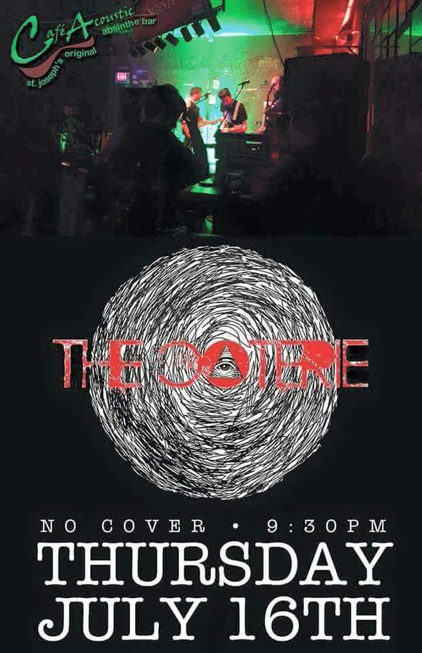 The Coterie live at Cafe Acoustic poster