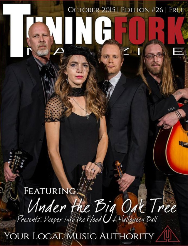 Under The Big Oak Tree Tuning Fork Magazine cover. Photo by Heather Kirchhoff.