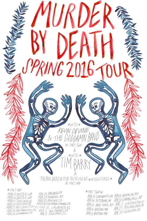 Murder By Death with Tim Berry tour poster
