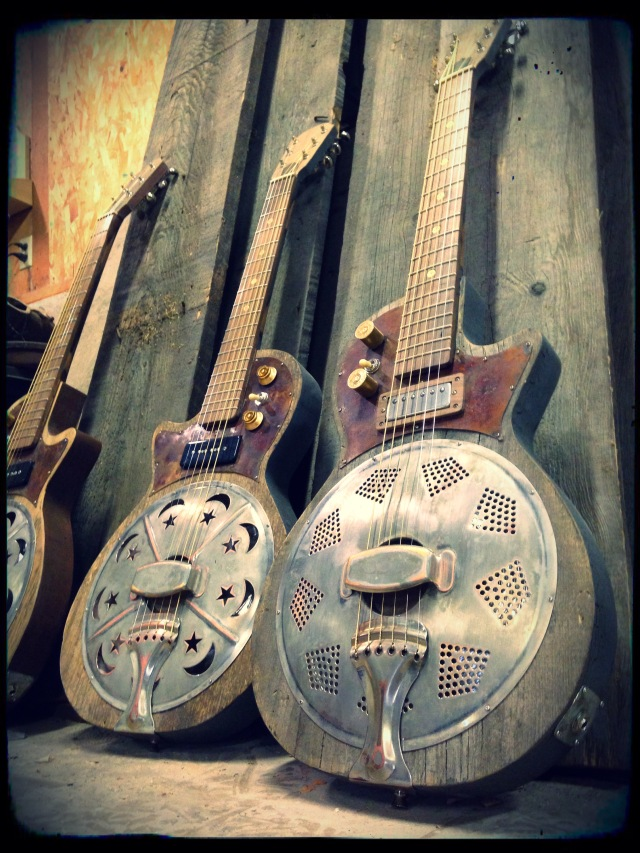 A couple examples of the one of a kind guitars made by Kochel Guitars.