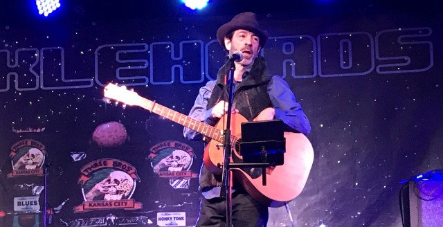 Travis Meadows performs a solo show at Knucklehead's Saloon in Kansas City, MO on 1/25/18. He storytelling would rival his own songs as he kept the crowd captivated for a full two hour set.
